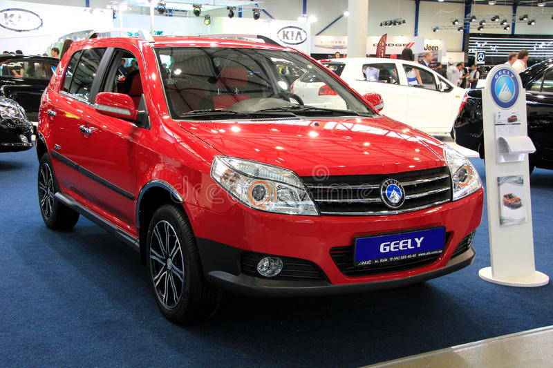 Geely MK Cross. KIEV - MAY 26: Geely MK Cross at yearly automotive-show SIA 2011. May 26, 2011 in Kiev, Ukraine royalty free stock photos