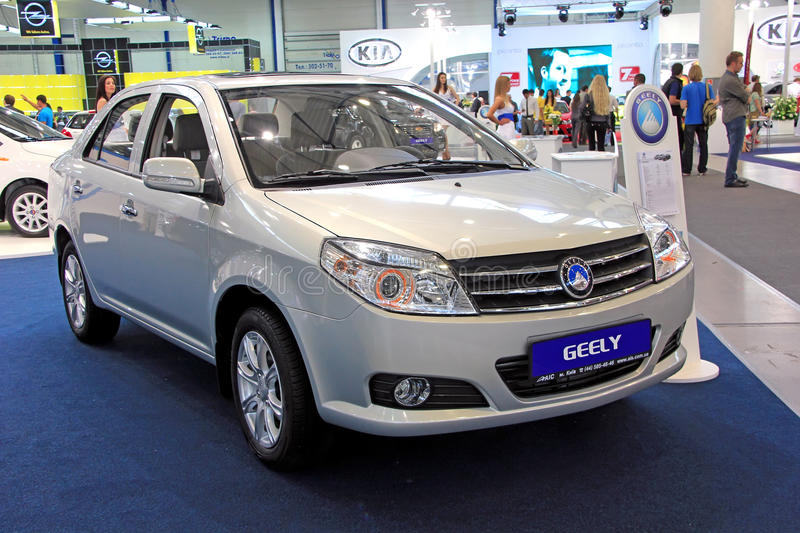 Geely MK Cross. KIEV - SEPTEMBER 10: Geely MK Cross at yearly automotive-show Capital auto show 2011. September 10, 2011 in Kiev, Ukraine royalty free stock images
