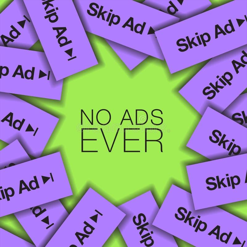 Geen Advertenties ooit is het thema grafisch van dit royalty-vrije illustratie