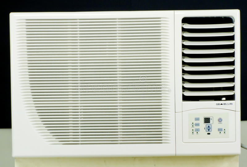Geen Airconditioner van btrandvensters royalty-vrije stock foto