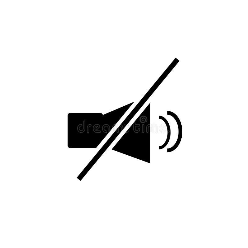 Geen audiodiepictogramvector op witte achtergrond, Geen audioteken wordt geïsoleerd royalty-vrije illustratie