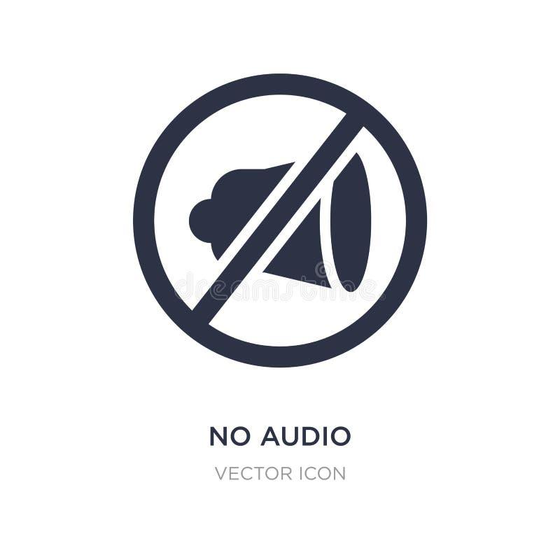 geen audiopictogram op witte achtergrond Eenvoudige elementenillustratie van Technologieconcept royalty-vrije illustratie