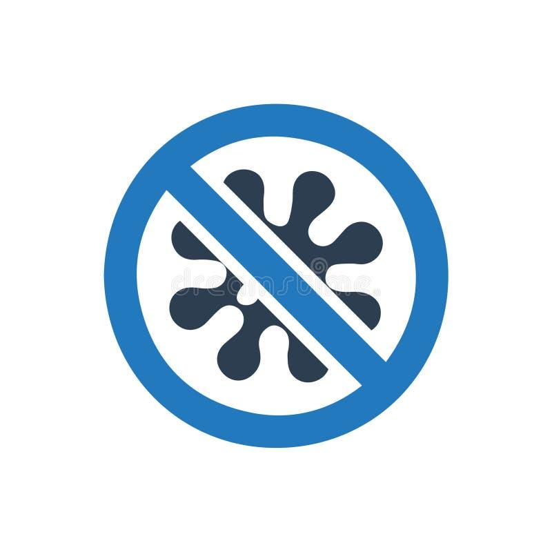 Geen Bacteriënpictogram stock illustratie