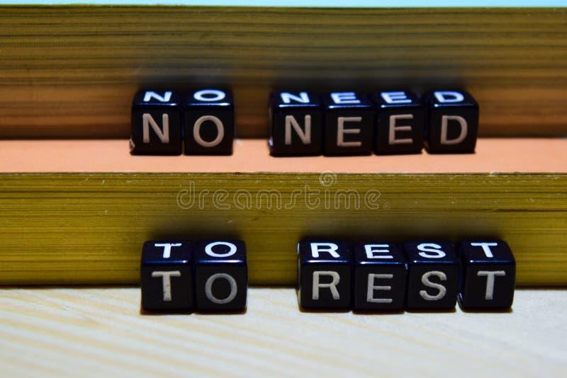 Geen behoefte om op houten blokken te rusten Het bedrijfsconcept van het onderwijs en stock afbeeldingen