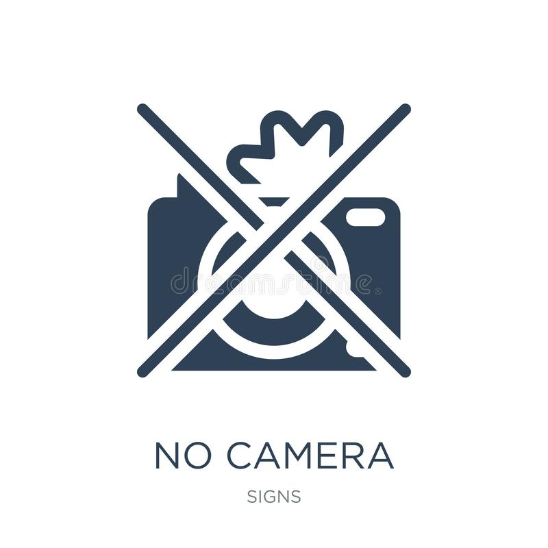 geen camerapictogram in in ontwerpstijl geen die camerapictogram op witte achtergrond wordt geïsoleerd geen eenvoudige en moderne stock illustratie