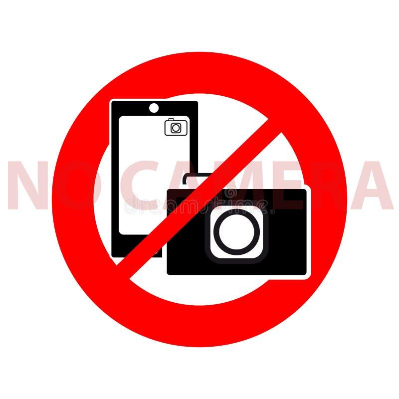 Geen camerasymbool op witte achtergrond stock illustratie