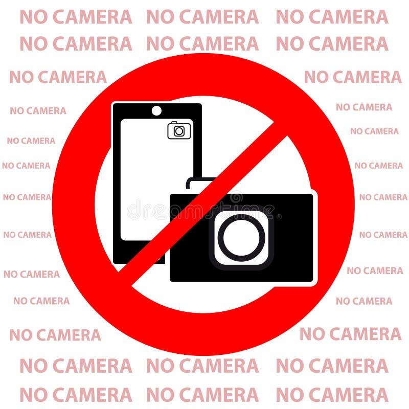 Geen camerasymbool op witte achtergrond royalty-vrije illustratie