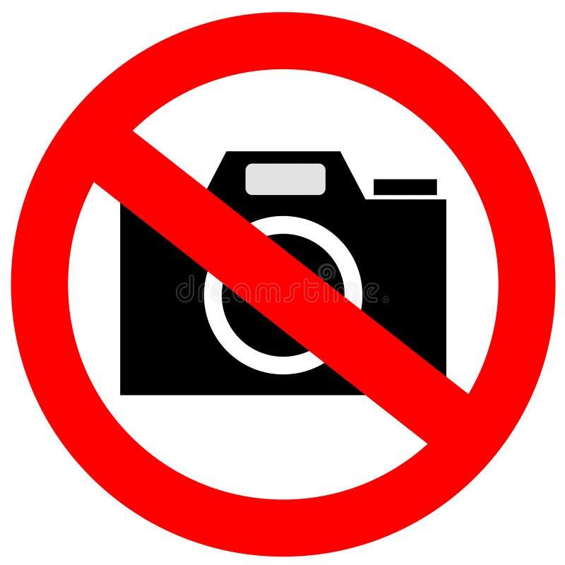 Geen camerateken royalty-vrije illustratie