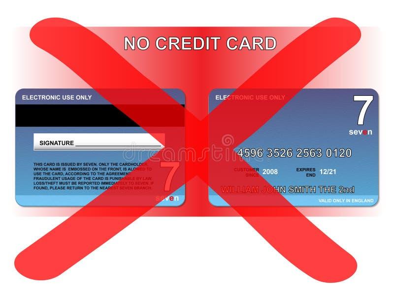 Geen creditcard royalty-vrije illustratie