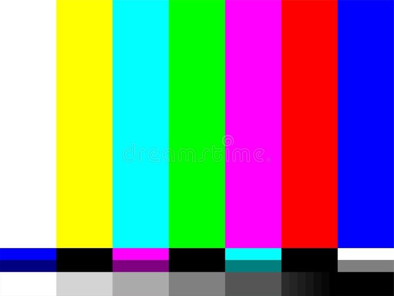 Geen de testkaart van signaaltv van vectorkleurenbars stock illustratie