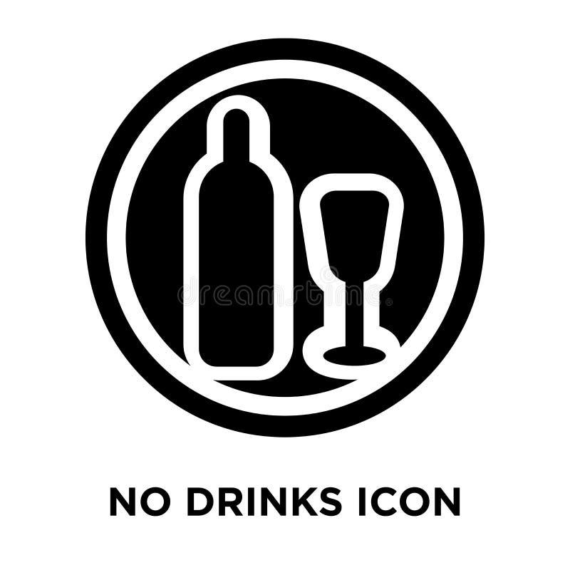 Geen die vector van het drankenpictogram op witte achtergrond, embleemconcept wordt geïsoleerd stock illustratie