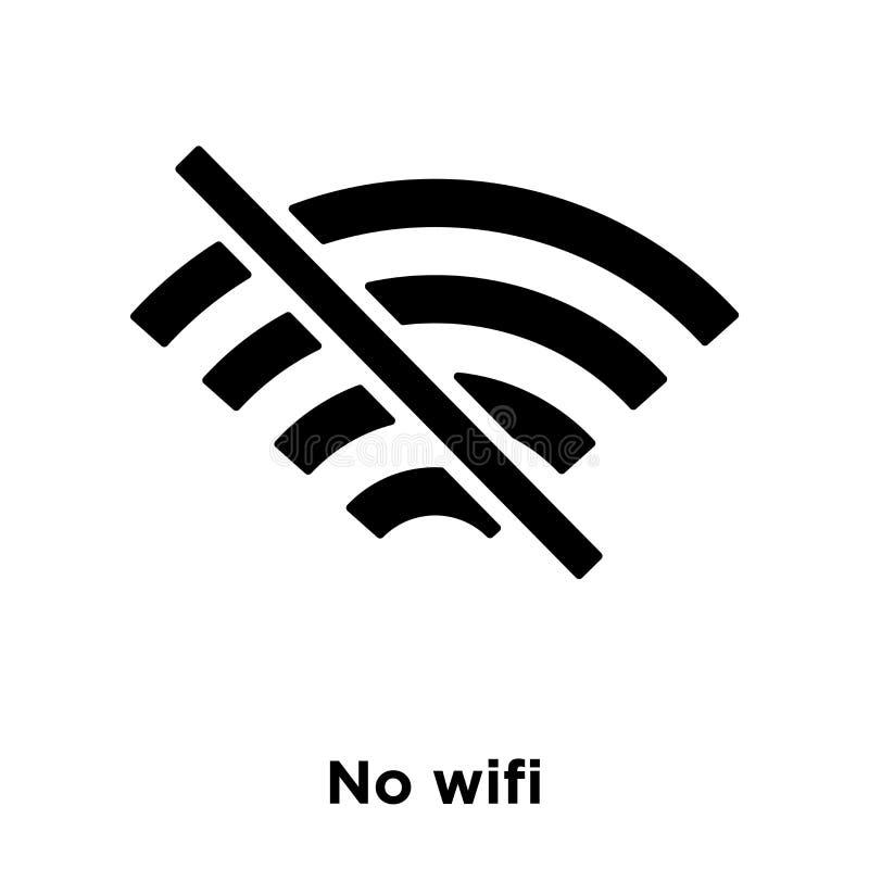 Geen die vector van het wifipictogram op witte achtergrond, embleemconcept o wordt geïsoleerd royalty-vrije illustratie