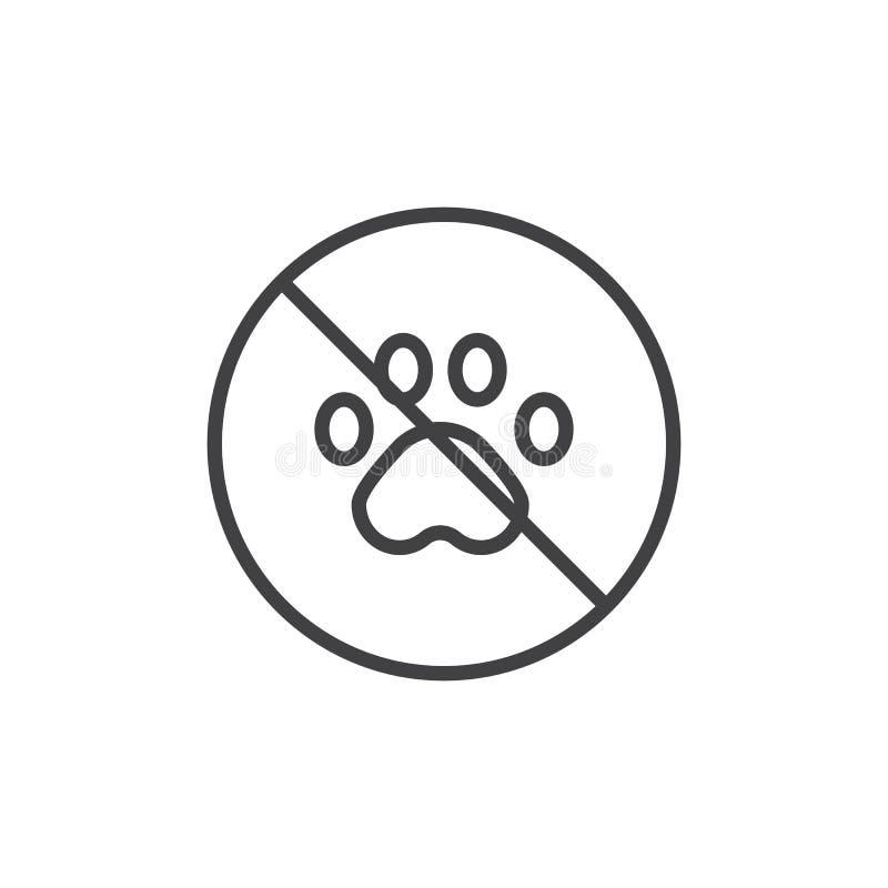 Geen dierlijk lijnpictogram stock illustratie