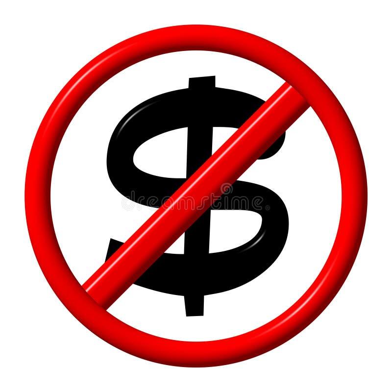 Geen dollar stock illustratie