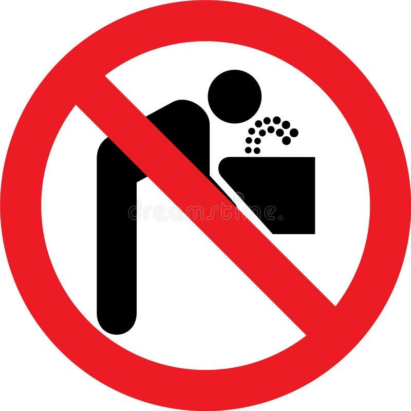 Geen drinkwaterteken stock illustratie