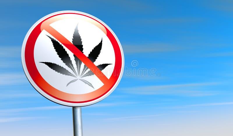 Geen drugs stock illustratie