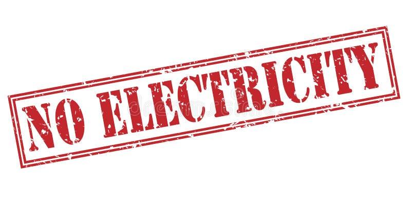 Geen elektriciteits rode zegel royalty-vrije illustratie