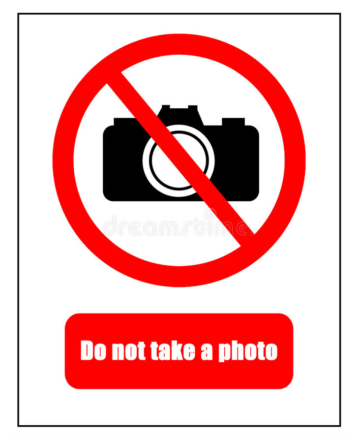 Geen fotografietellers royalty-vrije illustratie
