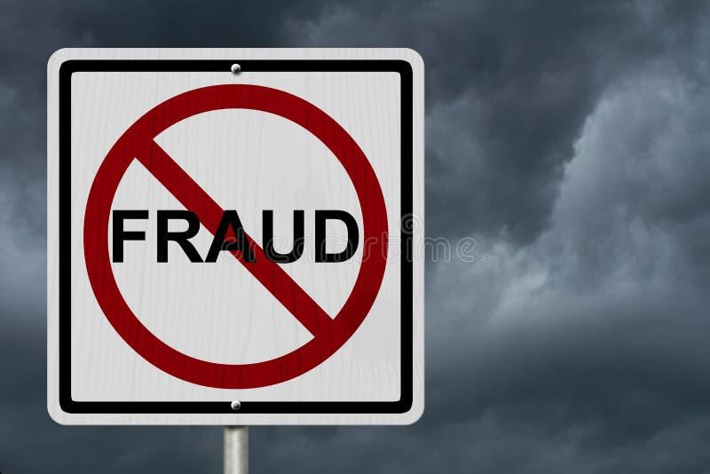 Geen Fraudeteken royalty-vrije stock afbeeldingen