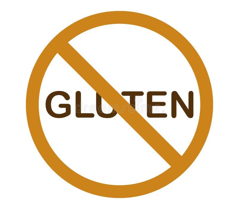 Geen geïllustreerd en gekleurd gluten stock foto