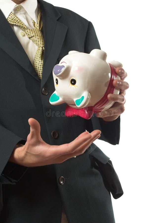 Geen geld in de bank stock afbeeldingen