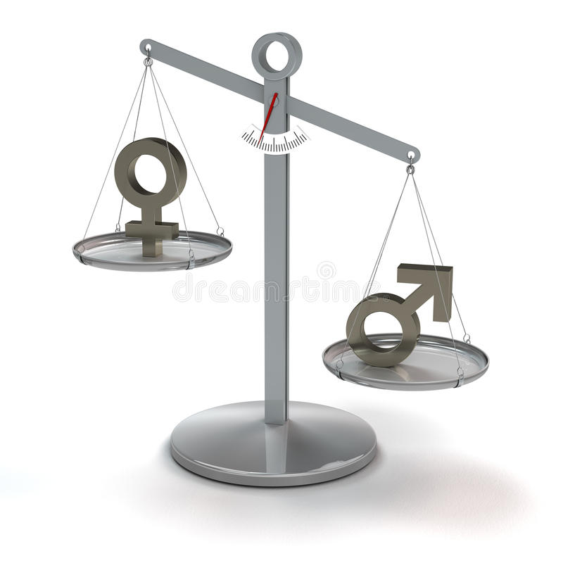 Geen gelijkheid stock illustratie