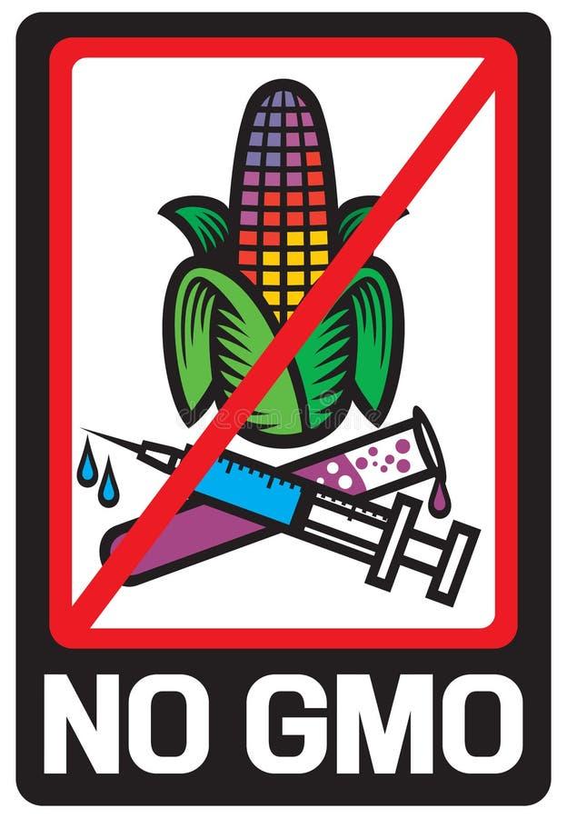 Geen GMO-etiket royalty-vrije illustratie