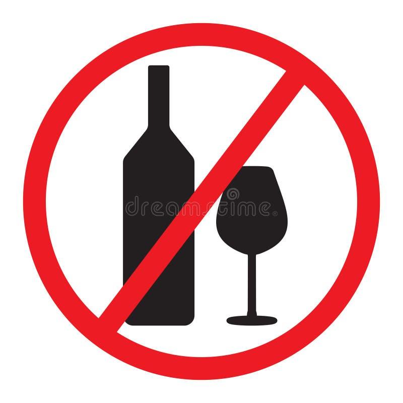 Geen het Drinken Teken stock illustratie