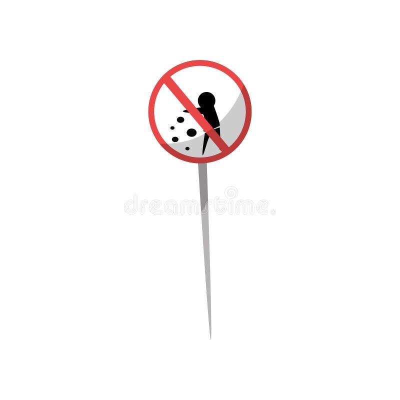 Geen het een rommel maken van belemmerde teken vectorillustratie op een witte achtergrond royalty-vrije illustratie