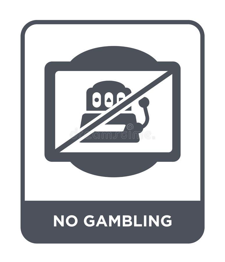 geen het gokken pictogram in in ontwerpstijl geen die het gokken pictogram op witte achtergrond wordt geïsoleerd geen het gokken  stock illustratie