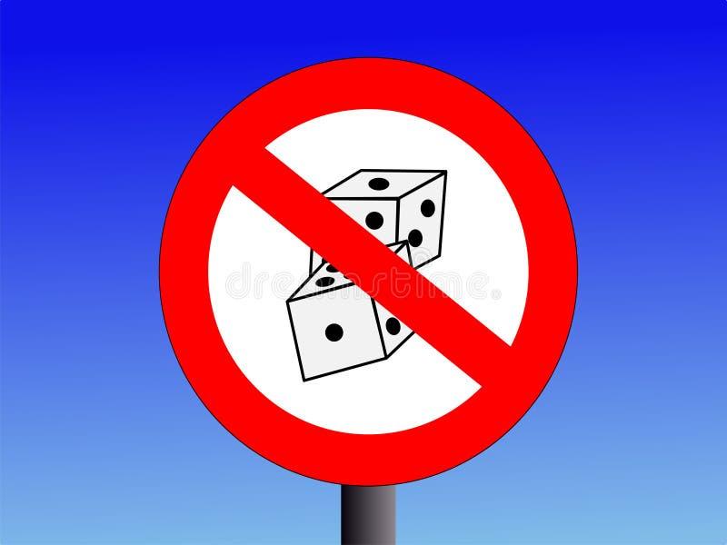 Geen het gokken teken royalty-vrije illustratie