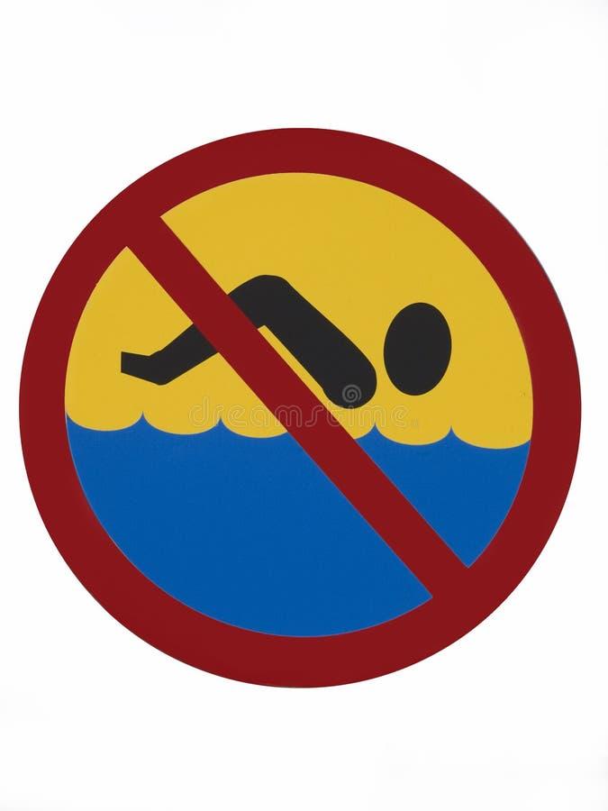 Geen het zwemmen stock foto