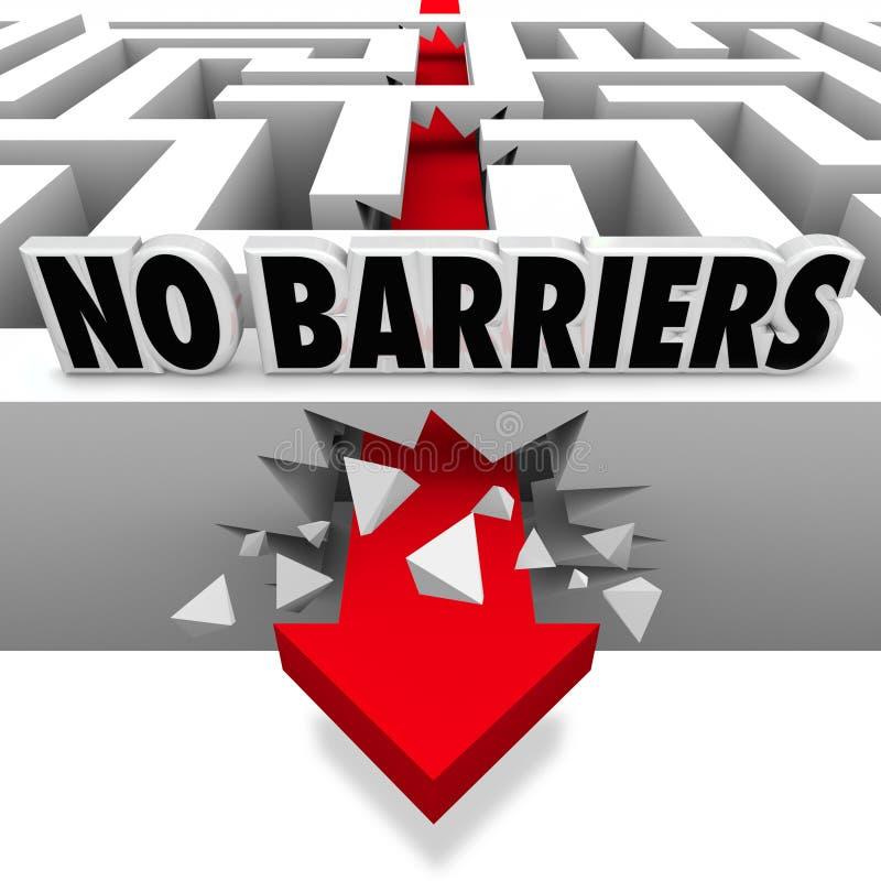 Geen Ineenstortingen van de Barrièrespijl door Maze Walls Freedom stock illustratie