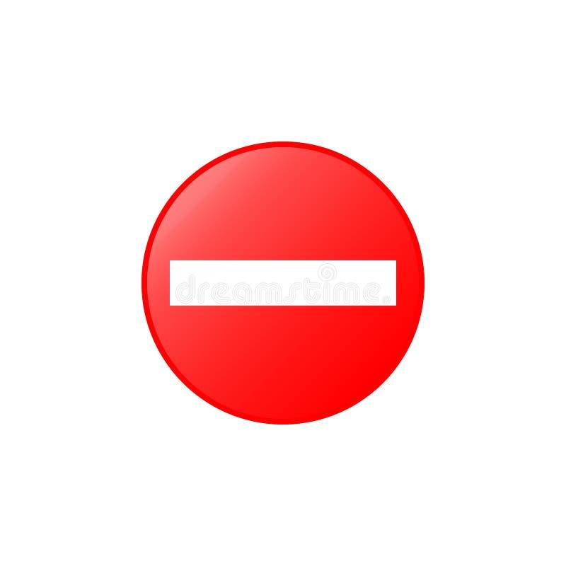 Geen ingangspictogram Element van verkeerstekenpictogram voor mobiel concept en Web apps Kleurde Geen ingangspictogram kan voor W royalty-vrije illustratie
