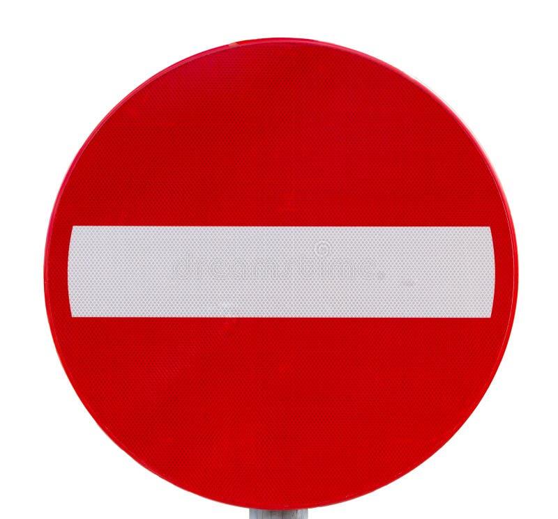 Geen ingangsverkeersteken stock foto