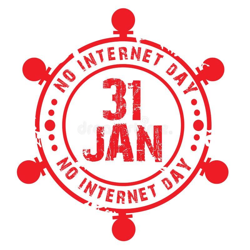 Geen Internet-Dag stock illustratie