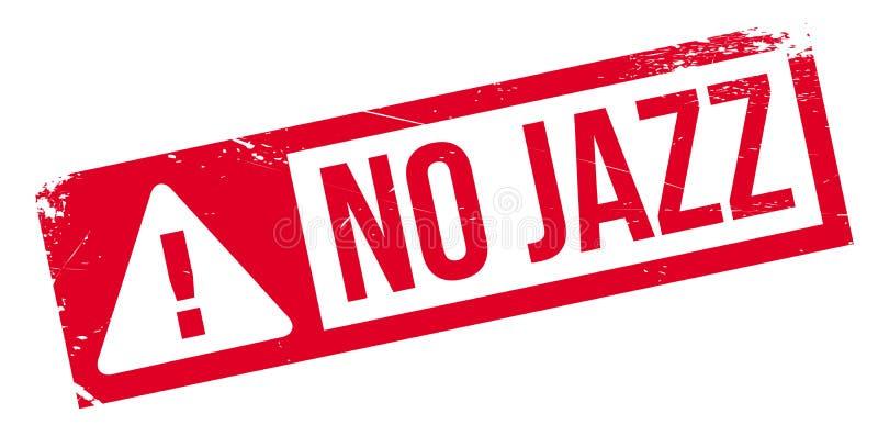 Geen Jazz rubberzegel royalty-vrije illustratie