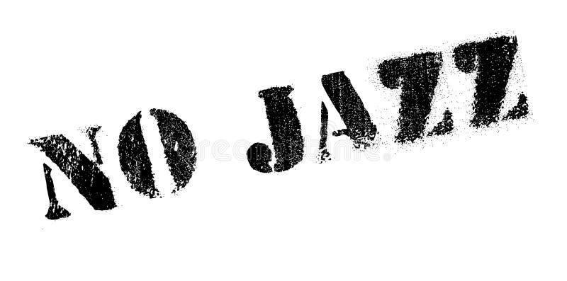 Geen Jazz rubberzegel stock illustratie