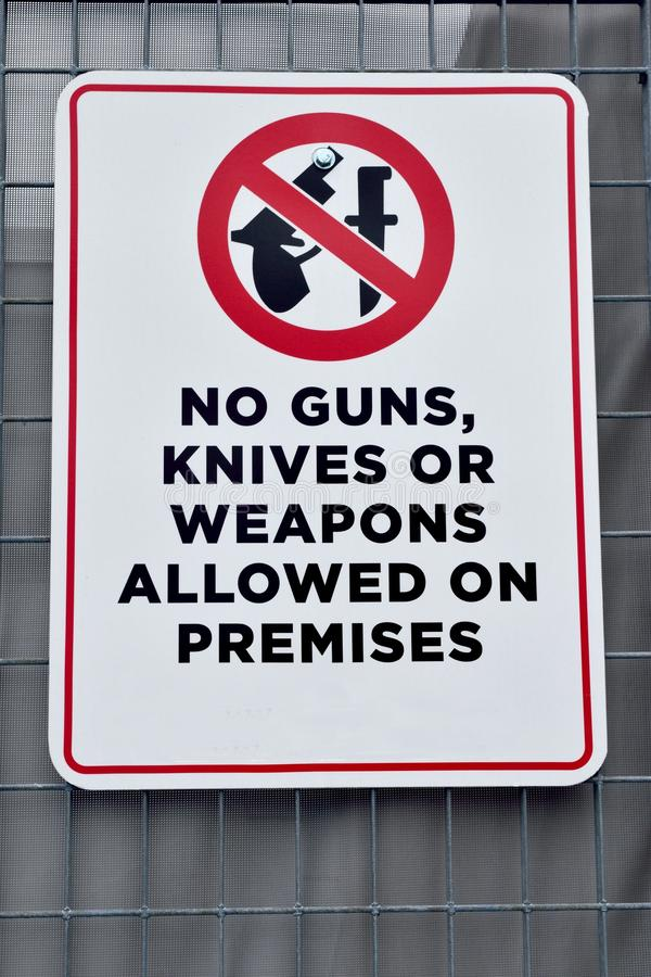 Geen kanonnenmessen of wapens royalty-vrije stock foto's
