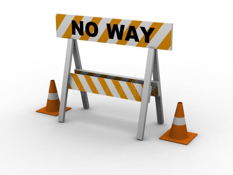 Geen manier! royalty-vrije illustratie
