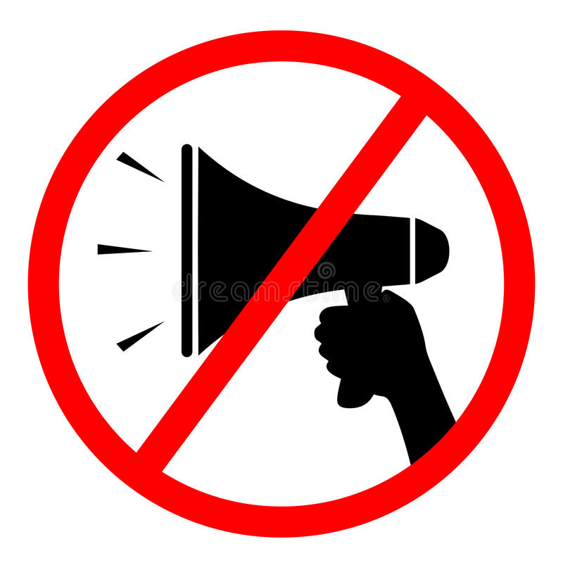 Geen megafoonteken stock illustratie