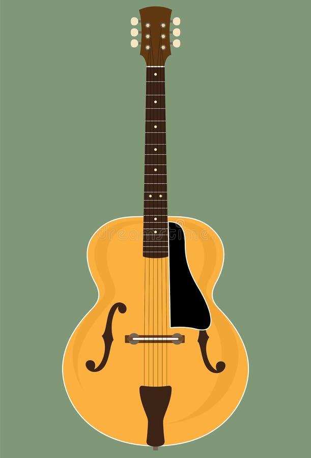 Geen Merk Naar maat gemaakte Jazz Guitar royalty-vrije illustratie