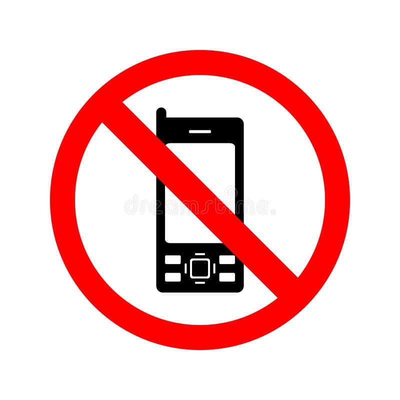 Geen Mobiel Teken van Telefoons
