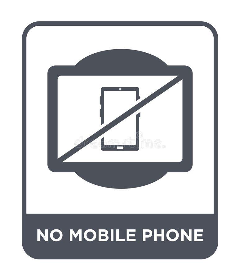 geen mobiel telefoonpictogram in in ontwerpstijl geen mobiel telefoonpictogram dat op witte achtergrond wordt geïsoleerd geen mob vector illustratie