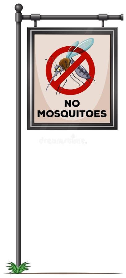 Geen muggenteken op de pool stock illustratie