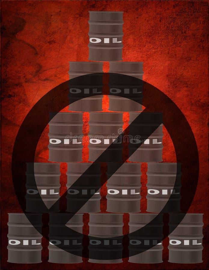Geen Olie stock illustratie