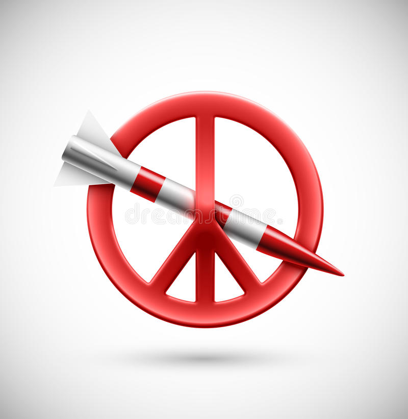 Geen oorlog vector illustratie