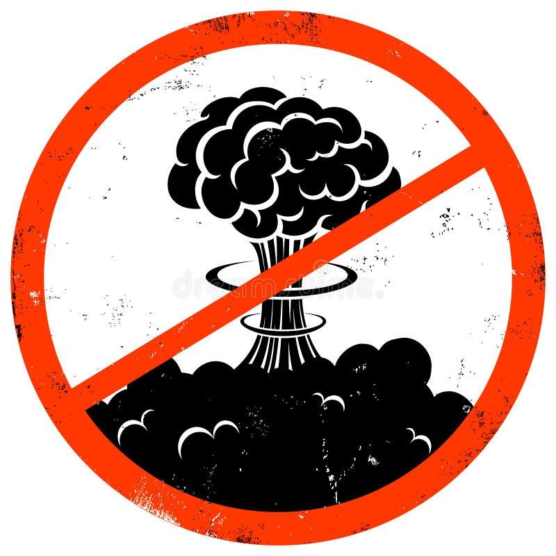 Geen oorlog stock illustratie