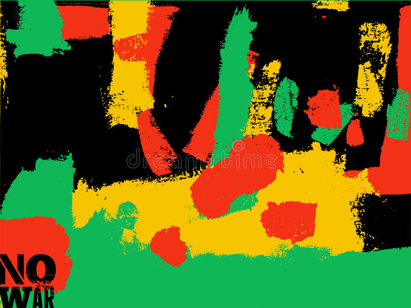 Geen oorlogsaffiche Abstracte expressieve kleurrijke achtergrond in grungestijl Vector illustratie stock illustratie