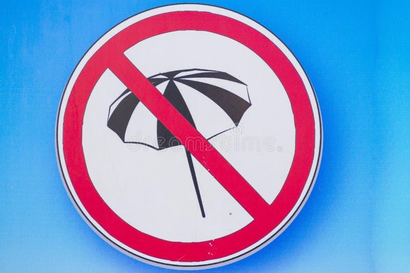 Geen parasols stock afbeeldingen